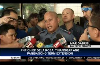 "PNP Chief Dela Rosa welcomes new term extension; says he is ""willing to serve"" Duterte ""up to (his) last breath"""